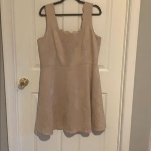 Alya from Francesca's NWT 1X Faux Suede Dress